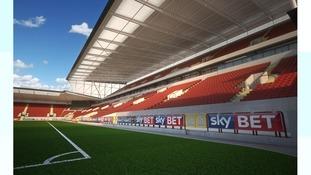 CGI of Ashton Gate West Stand