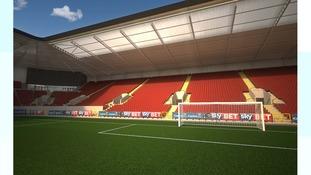 CGI of Ashton Gate South Stand