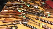 Image of the firearms handed in during the 12 day ammunition surrender