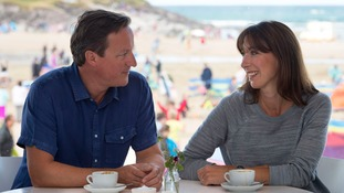 David and Sam Cameron in Polzeath