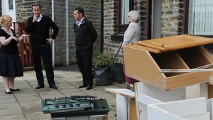 Residents speak with David Cameron