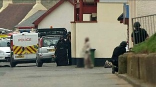 Armed police on Saltburn seafront