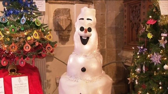 Christmas tree festival gets underway in Northamptonshire - ITV News