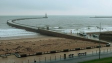 Roker Pier re-opened at 9am today
