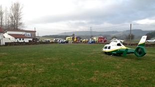 The Great North Air Ambulance assisted with the crash.