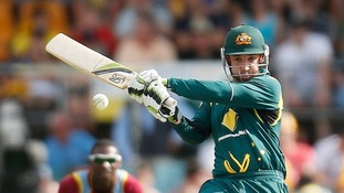 Phil Hughes in action.