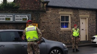 Military Police in the village of Catterick