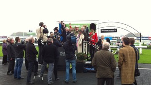 Winning trainers and owners celebrate