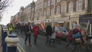 A&E protest in Eastbourne