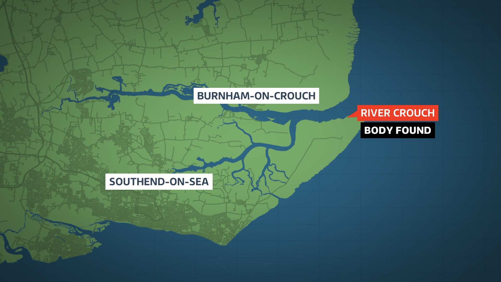 A man's body has been found in the River Crouch near Burnham in Essex.Polic