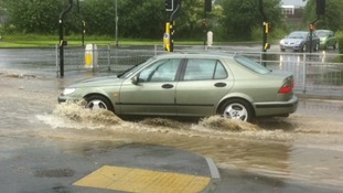 Flooding in Grantham, with other parts affected too