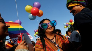 First gay pride takes place in New Delhi since gay sex outlawed in India
