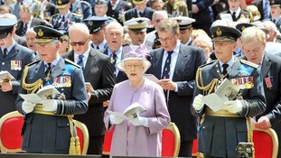 The Queen, the Duke of Edinburgh and Prince of Wales.