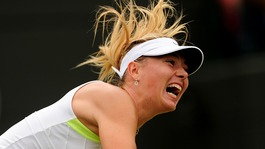 Russia's Maria Sharapova in action against Bulgaria's Tsvetana Pironkova