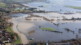 Flooded fields on Somerset Levels