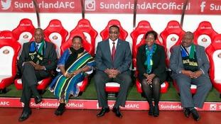 Tanzania delegation at the Stadium of Light