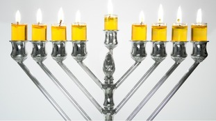 The Menorah is a seven-branched candelabrum which is lit each day of Chanukah.