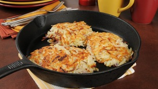 Oil-fried foods are traditionally eaten during the celebration, including potato pancakes.