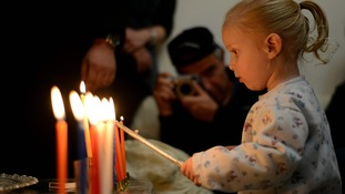 Candles on the Menorah are lit each day of the eight-day Chanukah celebration.