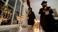 It is tradition to light the Chanukah candles by a street-facing window to be seen from outside.