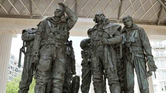 The Bomber Command Memorial in Green Park, London which was unveiled by Queen Elizabeth II today.