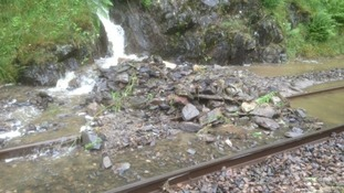 Landslides close train lines