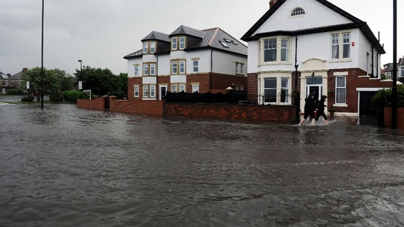 Flooding in Whitley Bay, North Tyneside