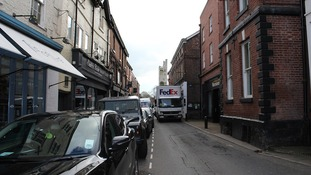 Knutsford's narrow pavements were designed to stop romantic walks