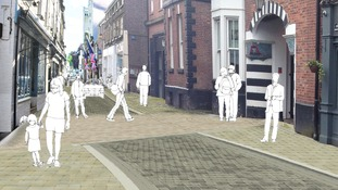 An artist's impression of the new King Street