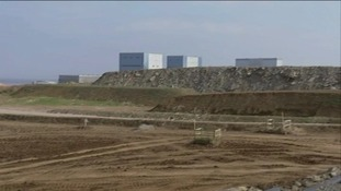 The site for the proposed nuclear power station at Hinkley Point in the shadow of the existing reactors