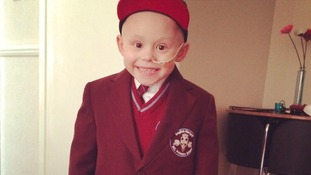 Harley in his school uniform.