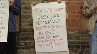 Free School protesters