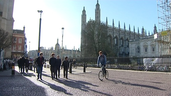 Cycling safety campaign in Cambridge