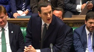 George Osborne giving his Autumn Statement