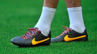 Birmingham City's Captain Paul Robinson wears Rainbow Laces in support of Anti-Homophobia during warm up.