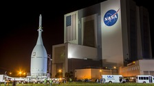 The Orion capsule seen at the Kennedy Space Centre in November.