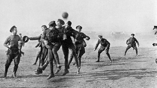 The letter details the Christmas truce in 1914, when opposing battalions downed weapons to mark the holiday