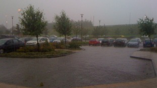 The rain arrives at Tyne Tees HQ
