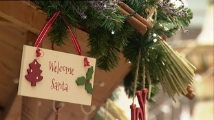 welcome santa sign