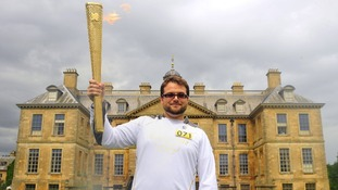Corporal Daniel Whittingham carried the Torch into Nottingham