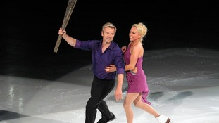 Torvill and Dean performing at the National Ice Centre