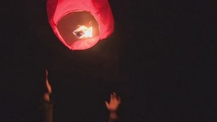 Jayden Parkinson's friends and family lit lanterns in her memory