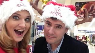 Ian and Kylie take part in Text Santa