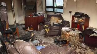 destroyed room