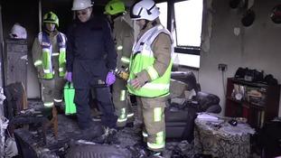 firemen in house