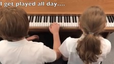 untunable piano and kids