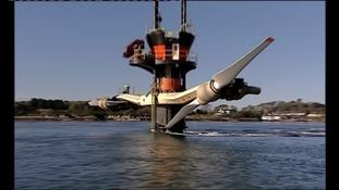 A tidal energy turbine
