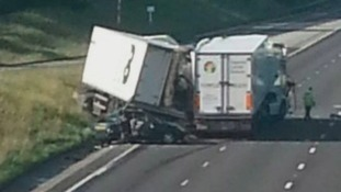 Scene of crash on A19