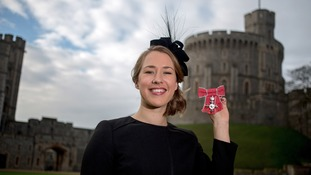 Lizzy Yarnold with MBE