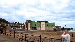 Artists' impression of the new Scarborough lifeboathouse